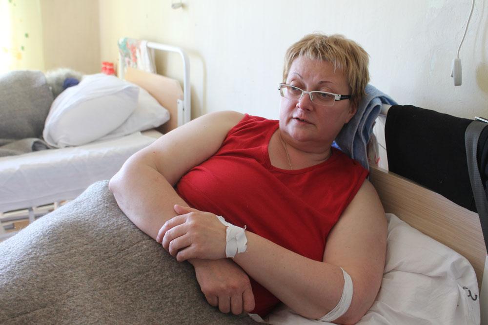 Бывшая судья из Санкт-Петербурга Татьяна Зайферт в больнице в июне 2012 г. рассказывает о проблемах судебной системы. Ее арестуют через месяц