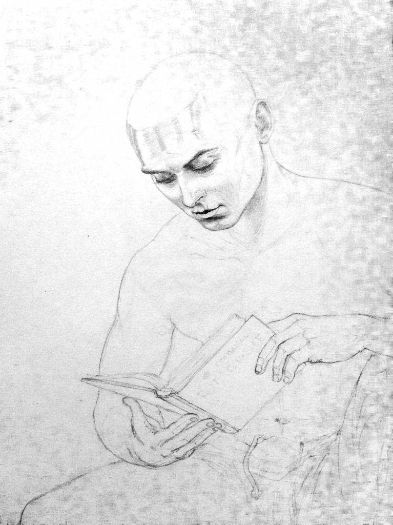 Автор Илья Фарбер - Неоконченный портрет сокамерника, читающего Бомарше