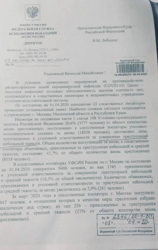 Мониторинг ситуации с коронавирусом в тюрьмах 17 апреля 2020 года (Обновляется)